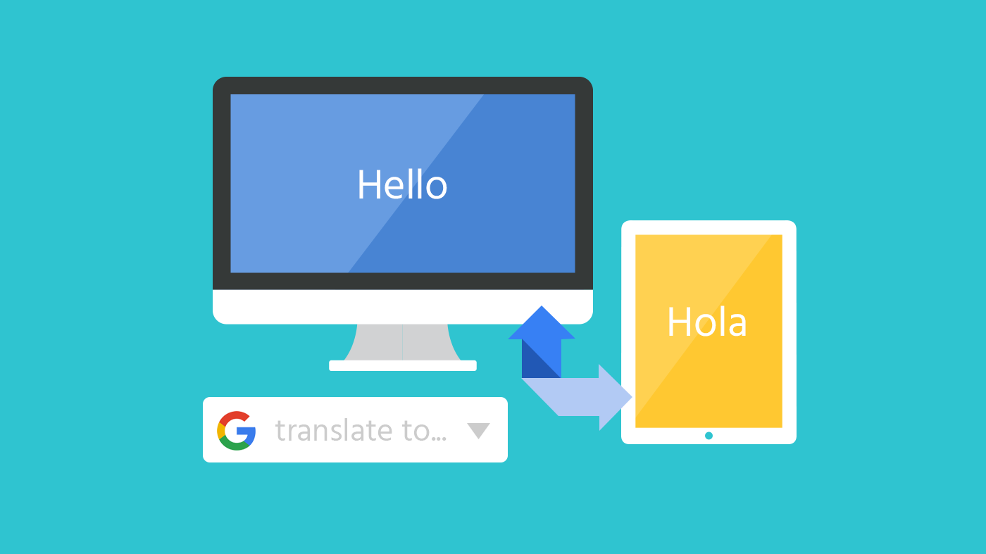 Google translate hello to hola image